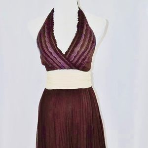 NWT bcbg brown halter dress